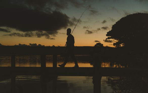 Fishing, Dick Clark Jetty, Strahan