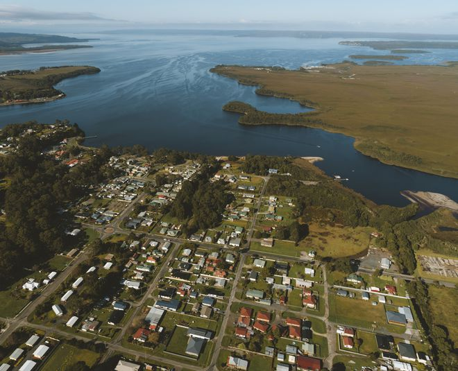 Strahan aerial view